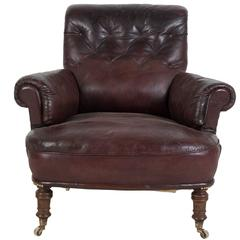 19th Century English Leather Club Chair