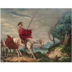 Don Quixote Painting by Charles Huard 1874-1965