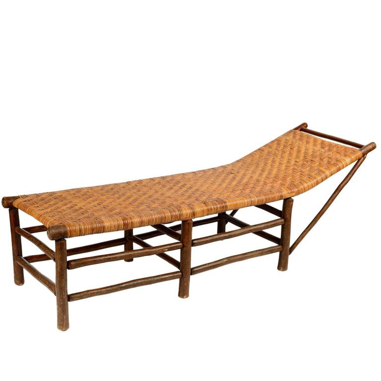 Adirondack hickory chaise longues at 1stdibs for Adirondack chaise