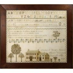 Connecticut Sampler, Dated 1833