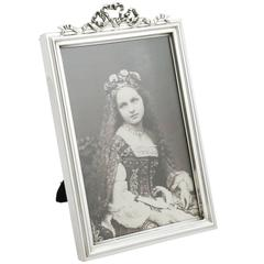 Antique Sterling Silver Photograph Frame, 1910s