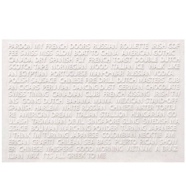 "Peter Buchman ""Pardon My French"", Enamel on Wood, 2016"