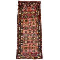 Vintage Persian Azerbaijan Carpet Runner with Modern Tribal Style, Azeri Rug