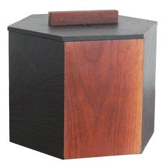 Slate and Teak Hexagonal Ice Bucket