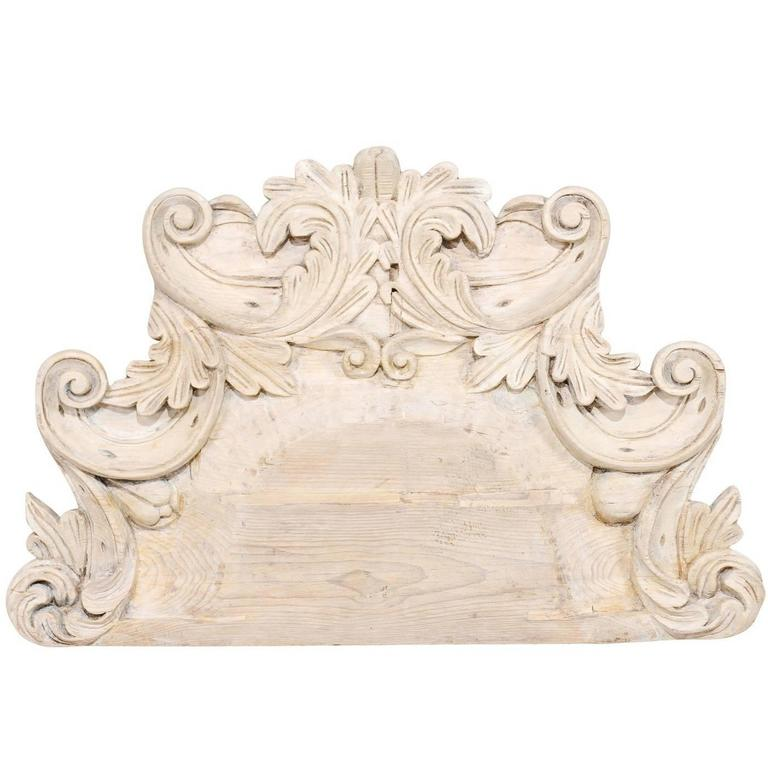Ornately Carved Medium Sized Light Colored Wood Wall Decoration from Mexico