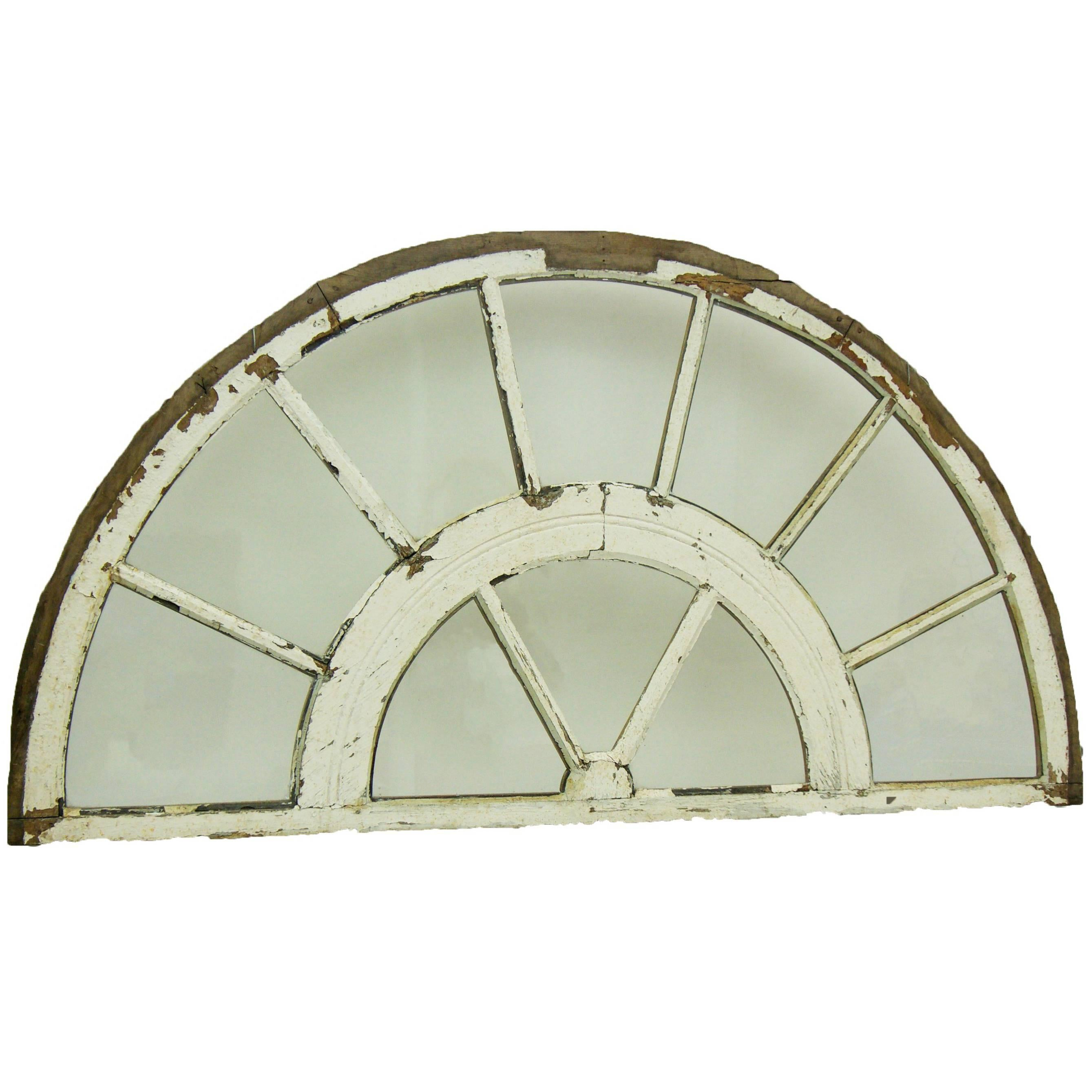 Antique Arch Top Transom Window