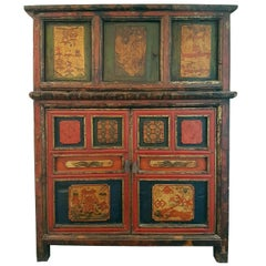 Late 19th Century, Early 20th Century Tibetan Cabinet