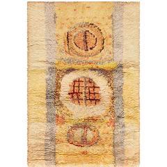 Leena Kaisa Designed Vintage Rya Scandinavian Rug