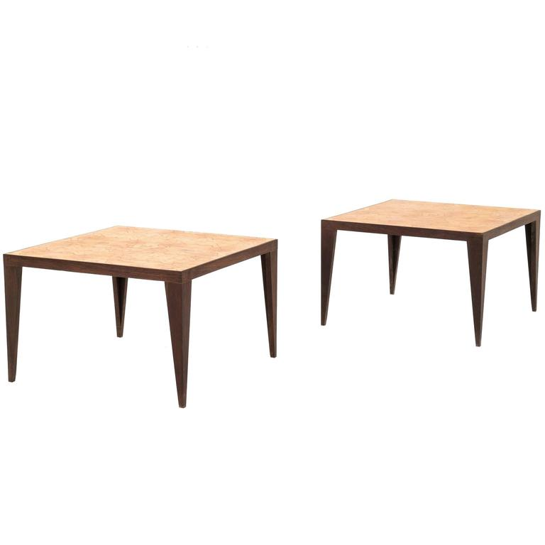 Pair of Roberto Sorrondeguy End Tables For Sale