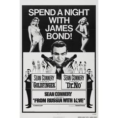"""Spend A Night With James Bond"" Film Festival Film Poster, 1972"