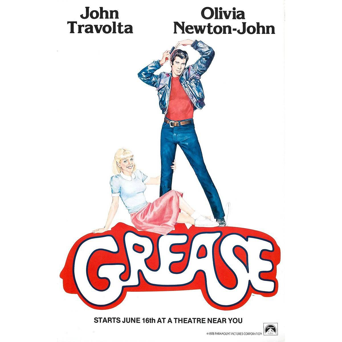 """""""Grease"""" Poster, 1978"""