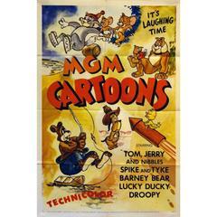 """MGM Cartoons"" Film Poster, 1956"