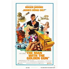 """""""The Man With The Golden Gun"""" Film Poster, 1974"""