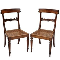 Early 19th Century English Regency George IV Rosewood Side Chairs, circa 1825