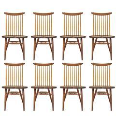 Set of Eight Nakashima Dining Chairs