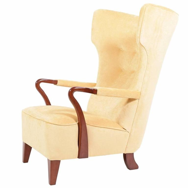 Rare 1938 Large Easy Chair by Bertil Söderberg For Sale