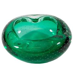 Green Murano Glass Decorative Bowl Dish
