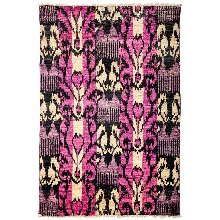 Pink Ikat Area Rug For Sale At 1stdibs