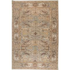 Beautiful Decorated Persian Sultanabad Rug