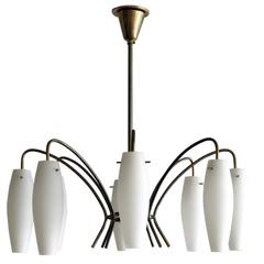 German Eight-Light Chandelier, 1950