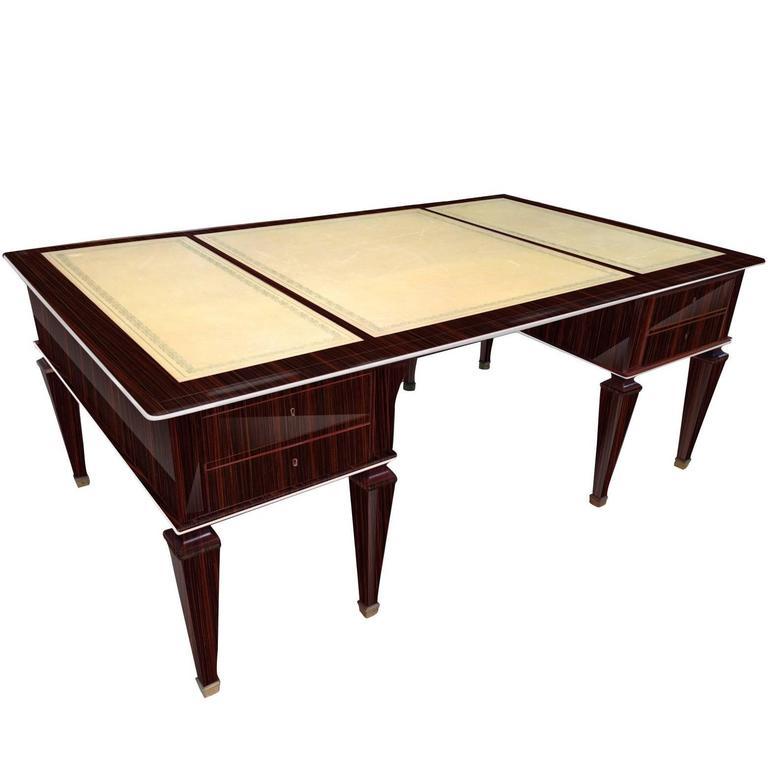 Art Deco Writing Desk Out of Macassar Wood