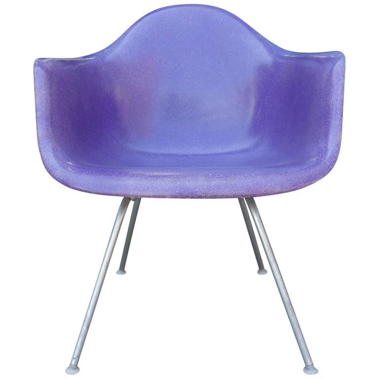 Mid-Century Eames LAX Lounge Armchair in Rarest Purple Color