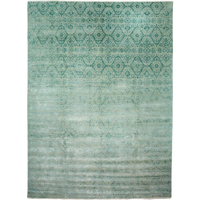Green Ikat Area Rug For Sale At 1stdibs