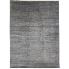 New Contemporary Transitional Gray Area Rug with Modern International Style