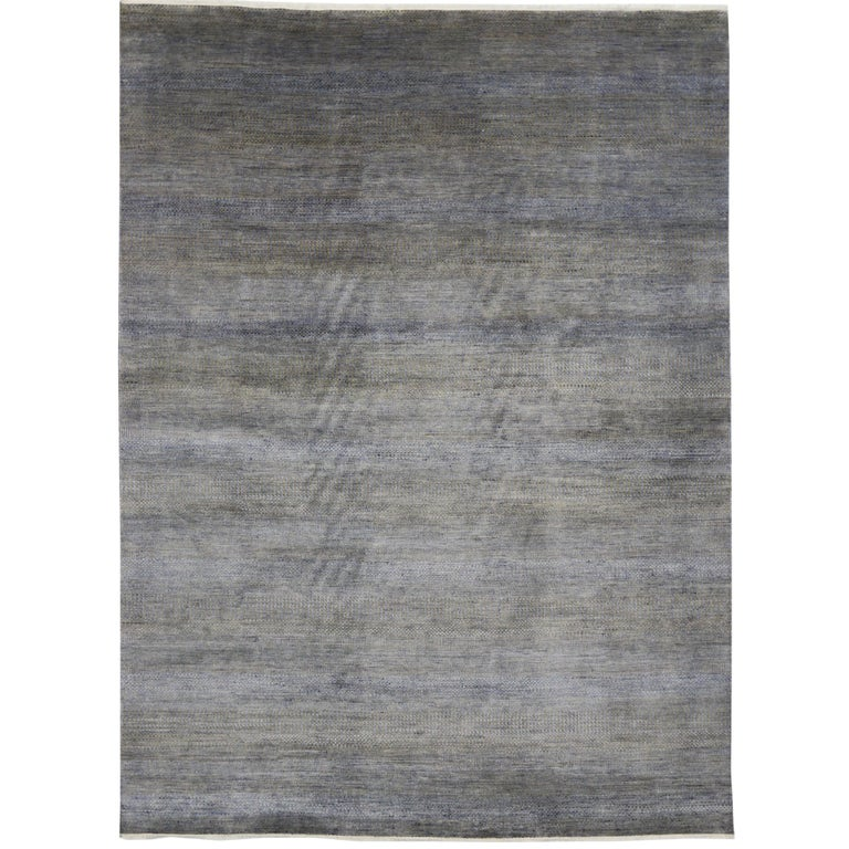 New Contemporary Transitional Gray Area Rug with Modern International Style For Sale