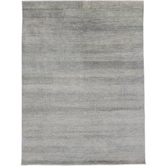 Transitional Gray Area Rug with Minimalist Style, Contemporary Bauhaus Design