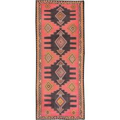 Gorgeously Contrasted Persian Kilim Rug