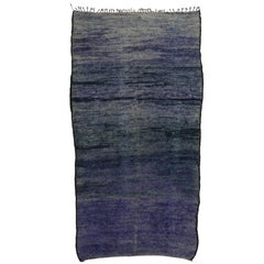 Vintage Berber Purple Moroccan Rug Inspired by Mark Rothko Chapel