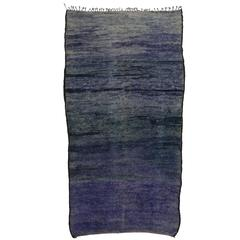 Boho Chic Berber Moroccan Rug with Modern Style, Violet Blue