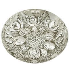 Antique Victorian Sterling Silver Bon Bon Dish by Martin Sugar