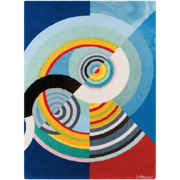 "Robert Delaunay ""Rythme III"" Tapestry, France"