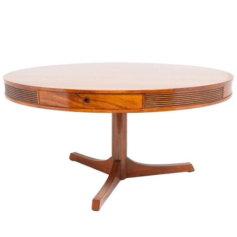 Robert Heritage for Archie Shine 1960s Rosewood Drum Table