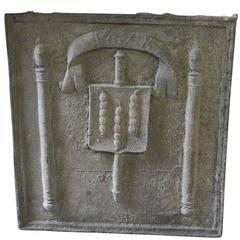 Monumental French 17th Century Fireback