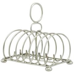 Antique Edwardian Sterling Silver Toast Rack