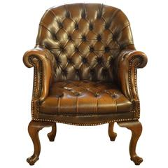 Queen Anne Style Library Chair