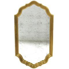 Elegant Brass Mirror