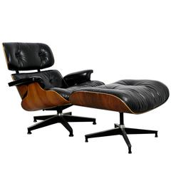 Mid-Century Modern Eames for Herman Miller Rosewood Lounge Chair & Ottoman 1960s