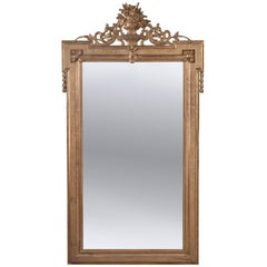 French 19th Century Transitional Gold Gilt Mirror