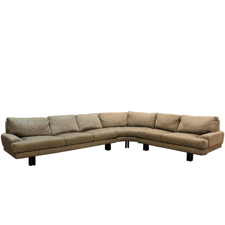 Mid-Century Modern Milo Baughman for Thayer Coggin Three-Piece Sectional Sofa 1