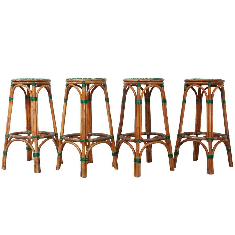 Set of four french bistro bar stools for sale at 1stdibs - French bistro barstools ...