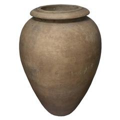 Mid-Century Modern Italian Terra Cotta Company Bisque Oil Jar