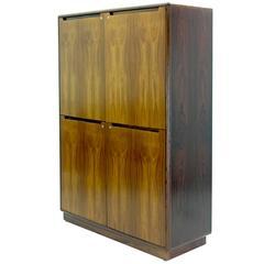 Thin Profile Nordisk Andels-Eksport Rosewood Cabinet from Denmark