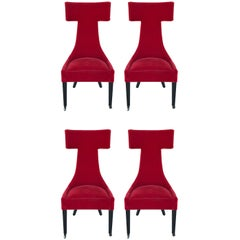 Outstanding Set of Four Architectural 1980s Chairs