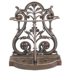 Victorian Cast Iron Umbrella and Stick Stand