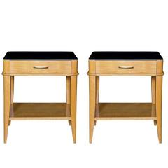 Pair of Sycamore End Tables by Batistin Spade, circa 1945