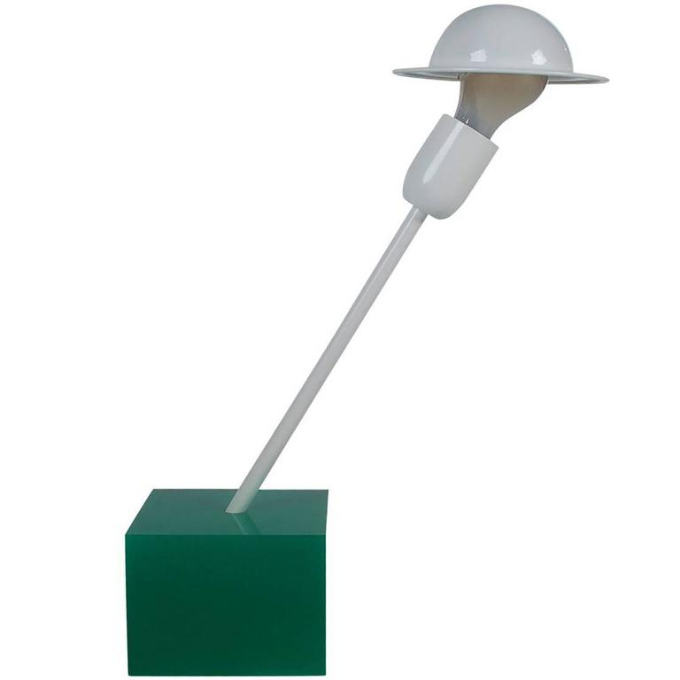 Postmodern Italian Ettore Sottsass Table or Desk Lamp for Stilnovo Memphis
